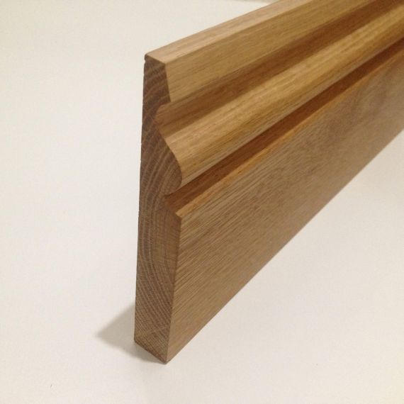 Henley Solid Oak 120mm x 20mm Lacquered Skirting Board 2.4m Length