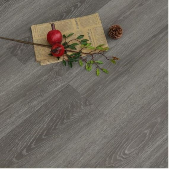 Hillingdon Luxury Vinyl Smoke Grey 178mm x 6.5/0.5mm LVT Flooring