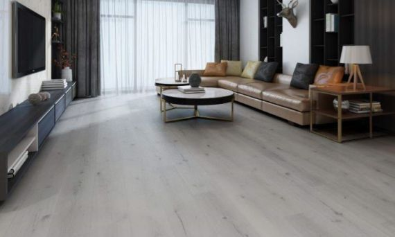 Hillingdon Luxury Vinyl French White 180mm x 4/0.5mm LVT Flooring (Wooden Flooring)