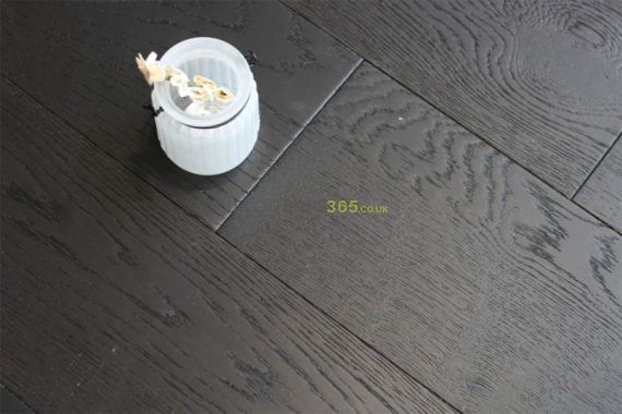 Henley Engineered Black Antique Oak Brushed & Oiled 150mm x 18/4mm Wood Flooring