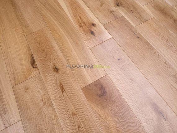 Twickenham Solid Natural Oak Lacquered 120mm X 20mm Wood Flooring (Wooden Flooring)
