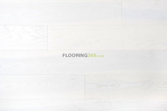Edmonton Engineered Pure White Ash Brushed & Matt Lacquered Click Lok 180mm x 14/2.5mm Wood Flooring (Wooden Flooring)