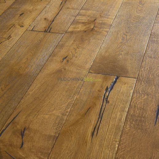 Twickenham Engineered Golden Distressed Oak Brushed & Oiled 190mm X 14/3mm Wood Flooring