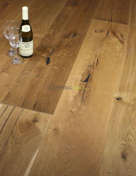Twickenham Engineered Natural Distressed Oak Brushed & Oiled 190mm X 14/3mm Wood Flooring