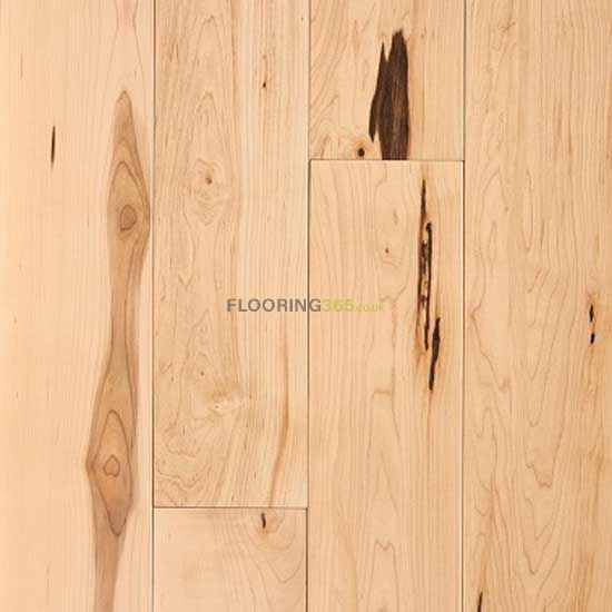 Barnworth Solid Canadian Maple Lacquered 125mm x 20mm Wood Flooring