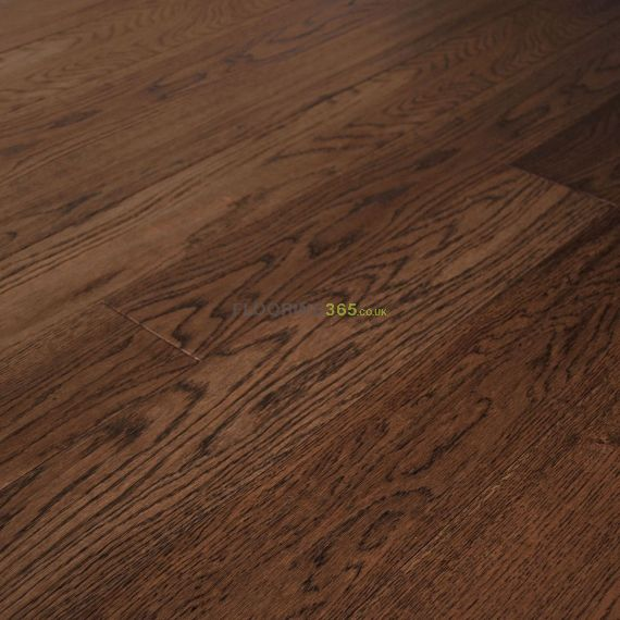 Edmonton Solid Smoked Oak Handscraped 203mm x 18mm Wood Flooring