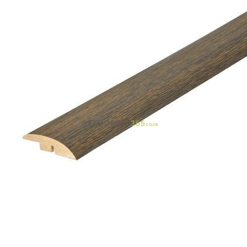 Walnut Stained Solid Oak Full Ramp (Wood to Vinyl/Tile) To Complement Walnut Flooring 2.7m Length