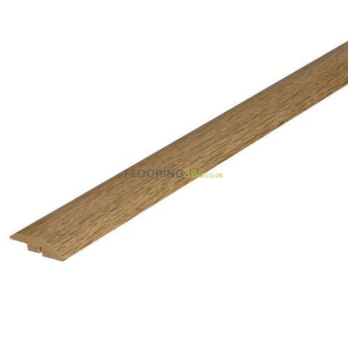 Smoked Solid Oak Semi Ramp (Wood to Carpet) To Complement Smoked Solid Oak Flooring 2.7m Length