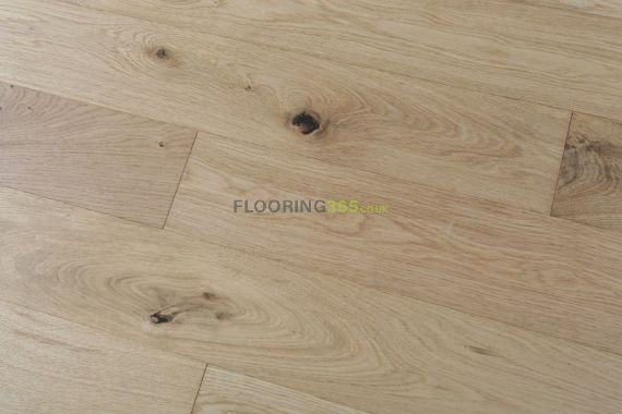 Cressington Engineered Natural Oak Brushed and Lacquered Click Lok 127mm x 10/2.5mm Wood Flooring