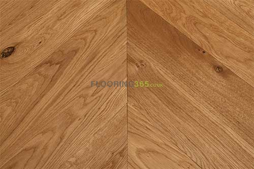 Sawbury Elite Engineered Smoked Brushed and Lacquered 90mm x 18/4 Chevron Wood Flooring