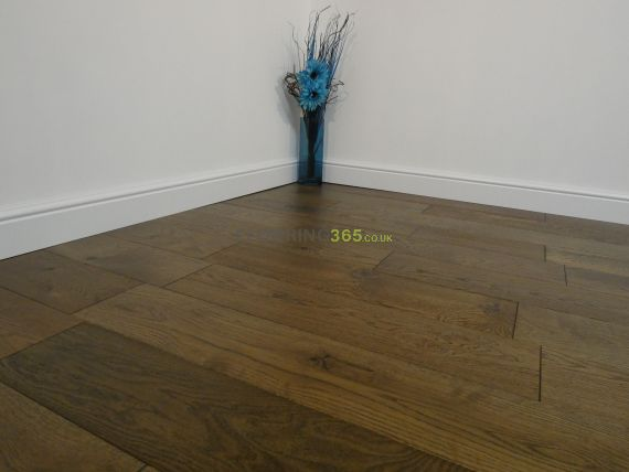 Highgate Engineered Smoked Oak Brushed and Lacquered 180mm x 14/2mm Wood Flooring