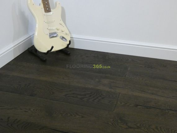 Highgate Engineered Black Coffee Oak Oiled and Distressed 220mm x 15/4mm Wood Flooring