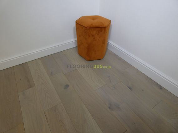 Edmonton Elite Solid Light Grey Oak Brushed & Lacquered 150mm x 18mm Wood Flooring