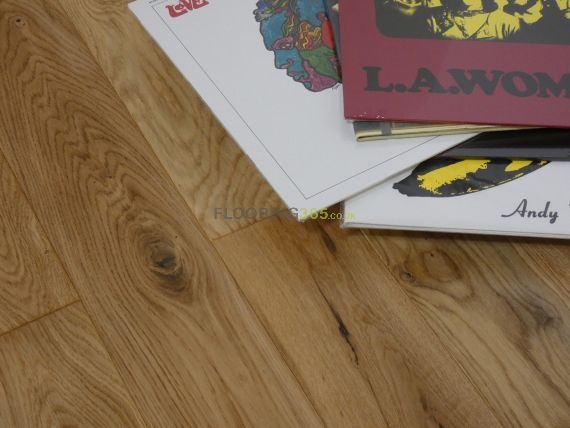 Edmonton Solid Natural Oak Lacquered 125mm X 18mm Wood Flooring (Wooden Flooring)
