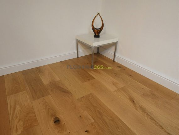 Milano Engineered Natural Oak Brushed and Lacquered 190mm x 14/3mm Wood Flooring