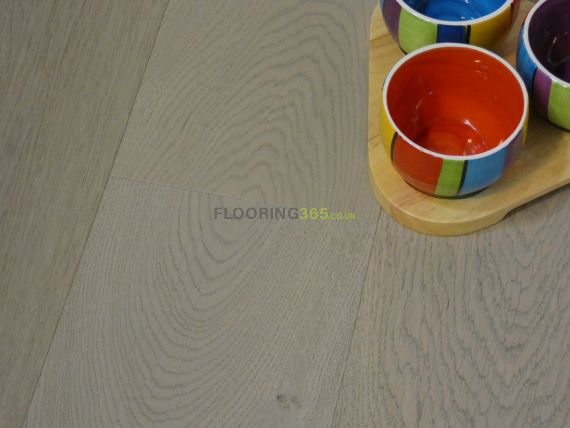 Stockholm Engineered Silver Grey Oak Brushed & Lacquered Click Lok 165mm x 15/4mm Wood Flooring