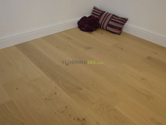 Stockholm Engineered Natural Oak Brushed & Invisible Lacquered Click Lok 165mm x 15/4mm Wood Flooring