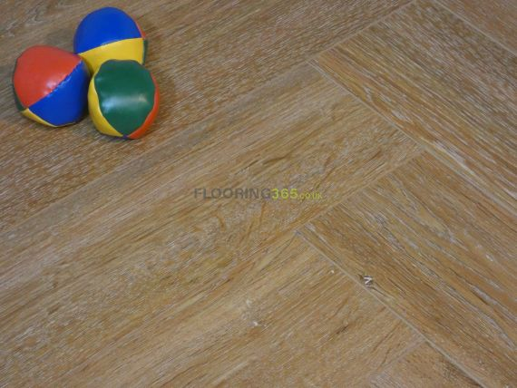 Calder Luxury Vinyl Natural Oak 126mm x 5/0.3mm Herringbone LVT Flooring