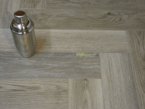 Calder Luxury Vinyl Grey 126mm x 5/0.3mm Herringbone LVT Flooring
