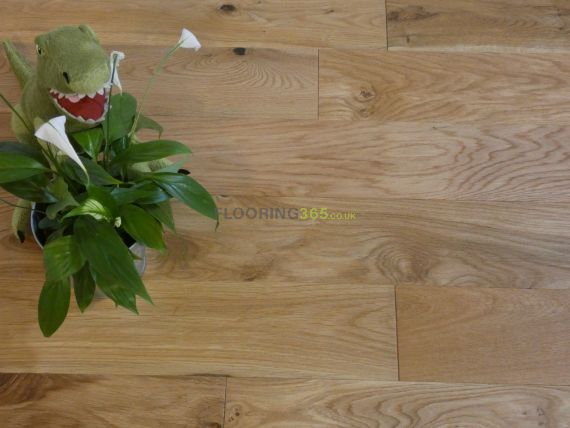 Edmonton Solid Natural Oak Brushed and Oiled 125mm X 18mm Wood Flooring (Wooden Flooring)
