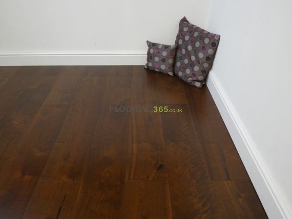 Glanwell Engineered Black Walnut Lacquered 190mm x 20/4mm Wood Flooring (Wooden Flooring)