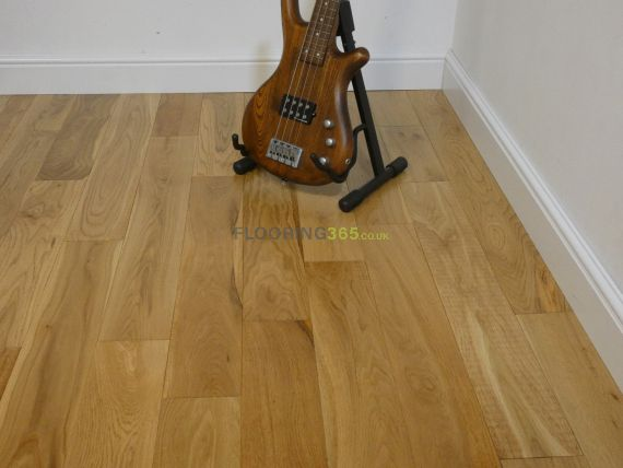 Glanwell Engineered Natural Oak Lacquered 125mm x 18/5mm Wood Flooring (Wooden Flooring)