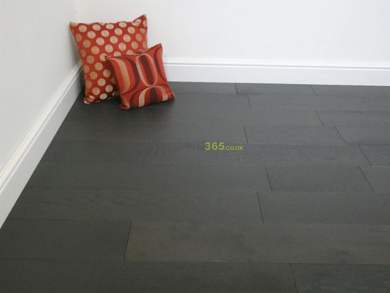 Henley Engineered Black Oak Brushed & Lacquered 150mm x 14/3mm Wood Flooring