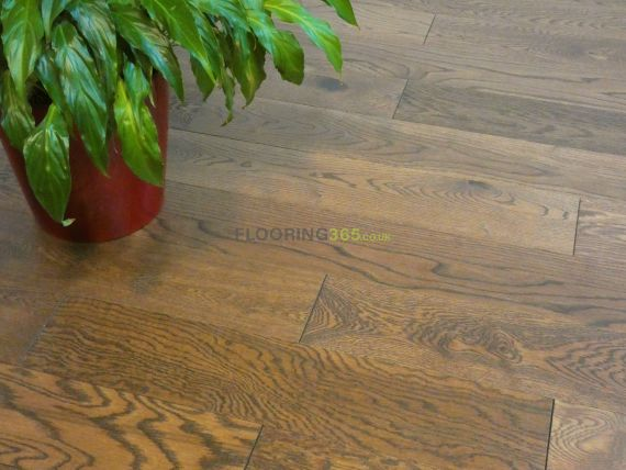 Fyfield Engineered Smoked Oak Brushed and Lacquered 125mm x 14/3mm Wood Flooring