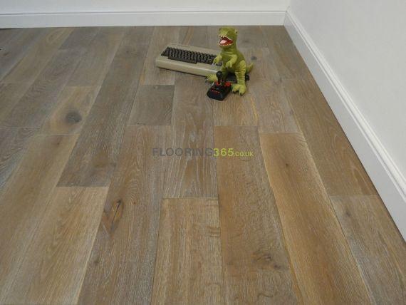 Barnworth Engineered Smoked Grey Oak Brushed & Oiled 190mm x 14/3mm Wood Flooring
