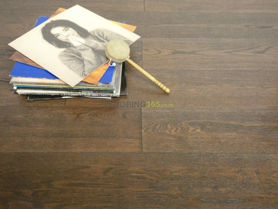 Cressington Engineered Coffee Oak Brushed and Lacquered Click Lok 165mm x 10/1.2mm Wood Flooring