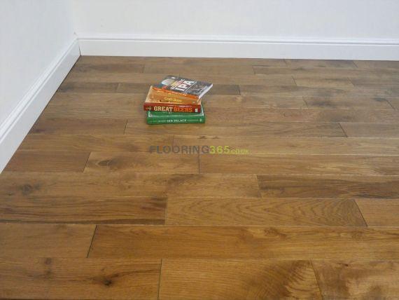 Highgate Solid Smoked Oak Brushed & Matt Lacquered 123mm x 15mm Wood Flooring