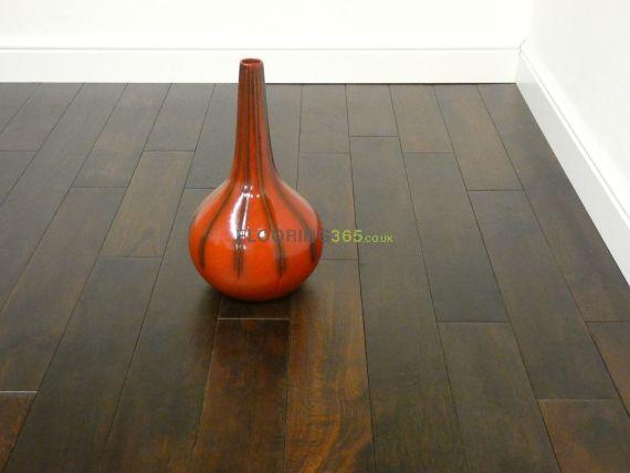 Highgate Solid Coffee Oak Brushed & Matt Lacquered 123mm x 15mm Wood Flooring