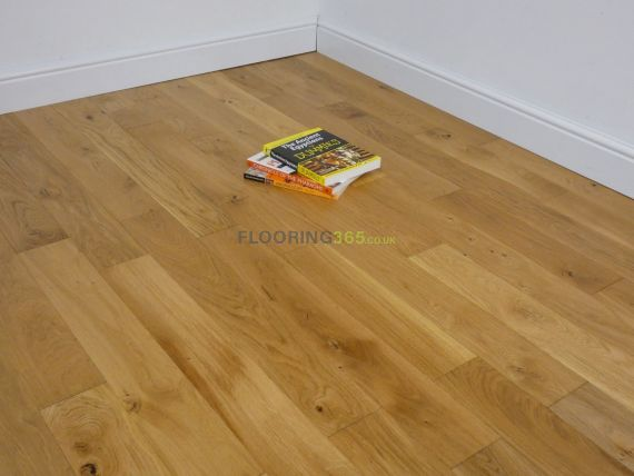 Milano Solid Natural Oak Brushed & Lacquered 110mm x 18mm Wood Flooring