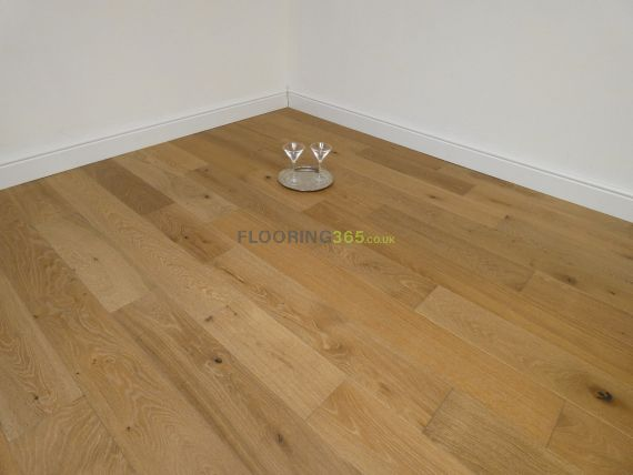 Calder Engineered Smoked Oak Brushed and White Oiled 150mm x 18/5mm Wood Flooring