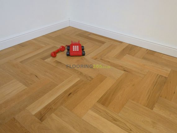 Sawbury Engineered Natural Oak Brushed and Oiled 90mm x 15/3mm Parquet Wood Flooring