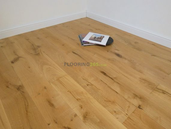 Calder Engineered Natural Oak Brushed and Lacquered 190mm x 14/3mm Wood Flooring