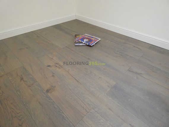 Calder Engineered Smoked Grey Oak Brushed and Oiled 190mm x 14/3mm Wood Flooring