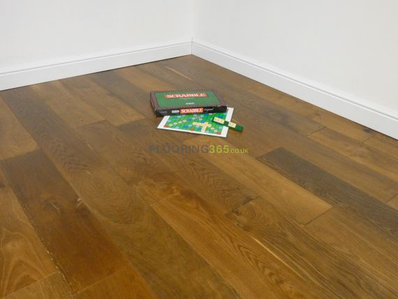 Cressington Engineered Smoked Oak Brushed and Lacquered 180mm x 14/3mm Wood Flooring