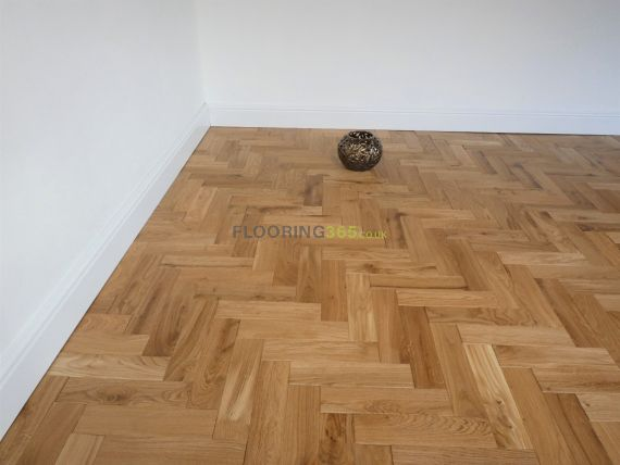 Sawbury Solid Natural Oak Brushed and Matt Lacquered 70mm x 18mm Parquet Wood Flooring