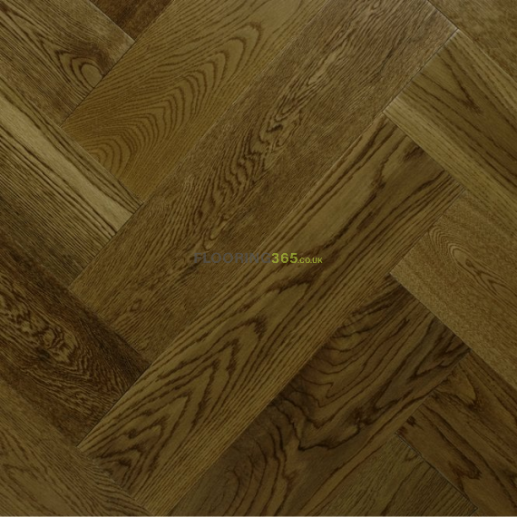 Sawbury Engineered Golden Brown Oak Brushed and Matt Lacquered 125mm x 15/4mm Parquet Wood Flooring