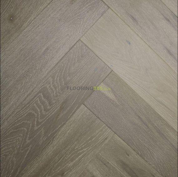 Sawbury Engineered Charleston Grey Brushed and Matt Lacquered Click Lok 130mm x 14/2.5mm Parquet Wood Flooring
