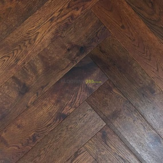 Sawbury Engineered Walnut Stain Oak Brushed and Matt Lacquered 80mm x 18/3mm Parquet Wood Flooring (Wooden Flooring)