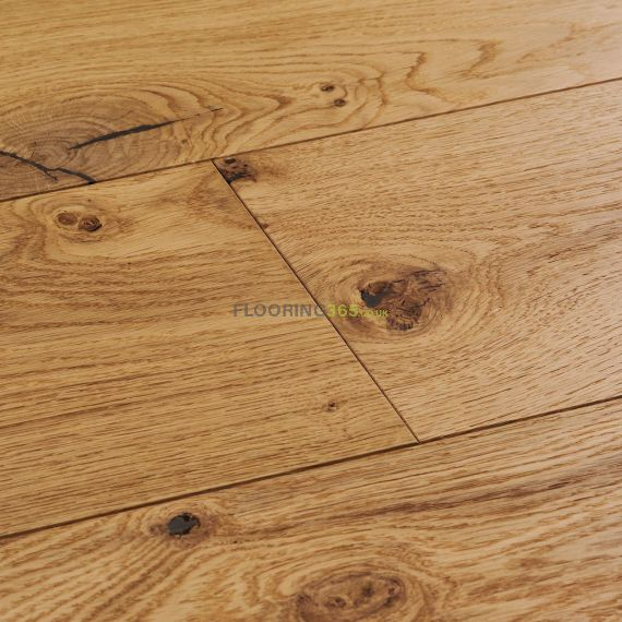 Cressington Engineered Natural Oak Lacquered Click Lok 180mm x 14/2.5mm Wood Flooring (Wooden Flooring)