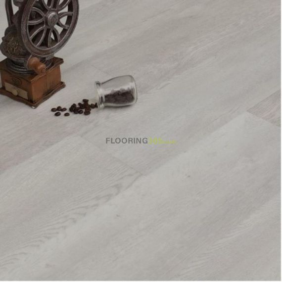 Hillingdon Luxury Vinyl Royal White 178mm x 6.5/0.5mm LVT Flooring (Wooden Flooring)