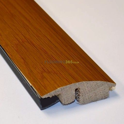 Walnut Stained Solid Oak Semi Ramp (Wood to Carpet) To Complement Walnut Flooring 2.7m Length