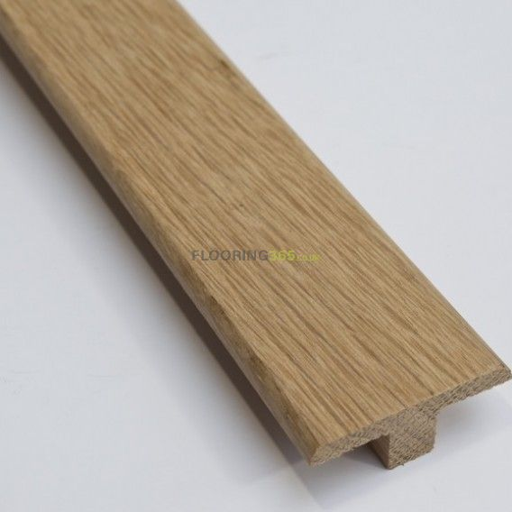 Solid Oak Profile Door T-Bar To Complement Natural Oak Flooring 0.9m Length