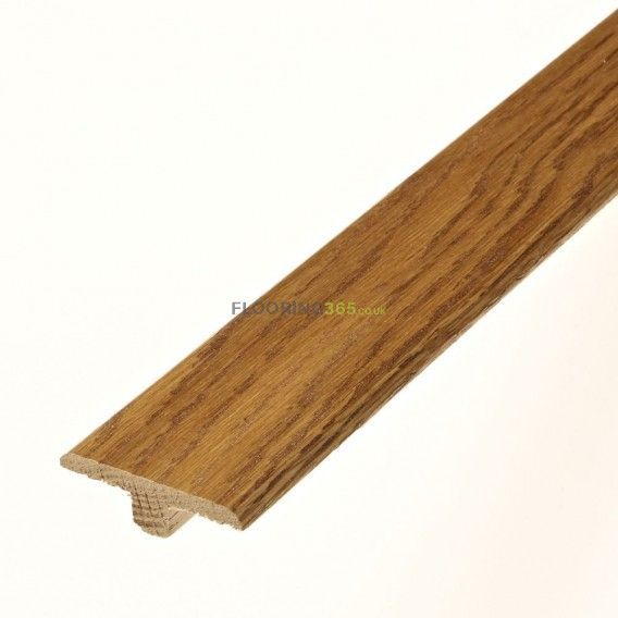 Golden Solid Oak Profile Door T-Bar To Complement Golden Oak Flooring 2.7m Length