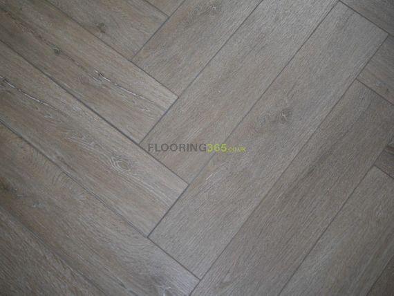 Hillingdon Luxury Vinyl Misty Smoked 126mm x 6/0.5mm Herringbone LVT Flooring