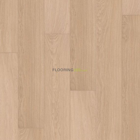 Quickstep White Varnished Oak 9.5mm Largo Laminate Flooring (Wooden Flooring)